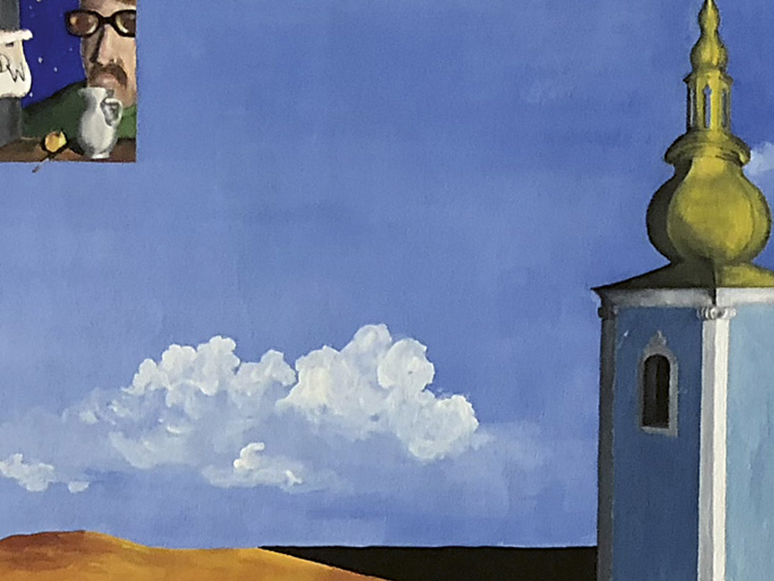 Beobachtung des Kirchturms, 1965