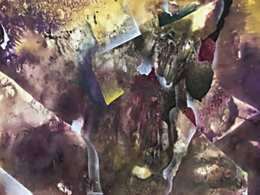 Ohne Titel violett, 1969