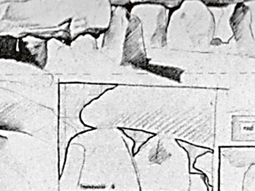 Feldskizze Bretagne Mané Kerioned, 1976