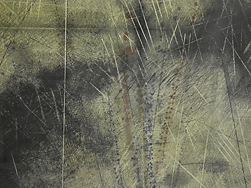 Flugtraum Krähenflug über Steinkreis, 1980