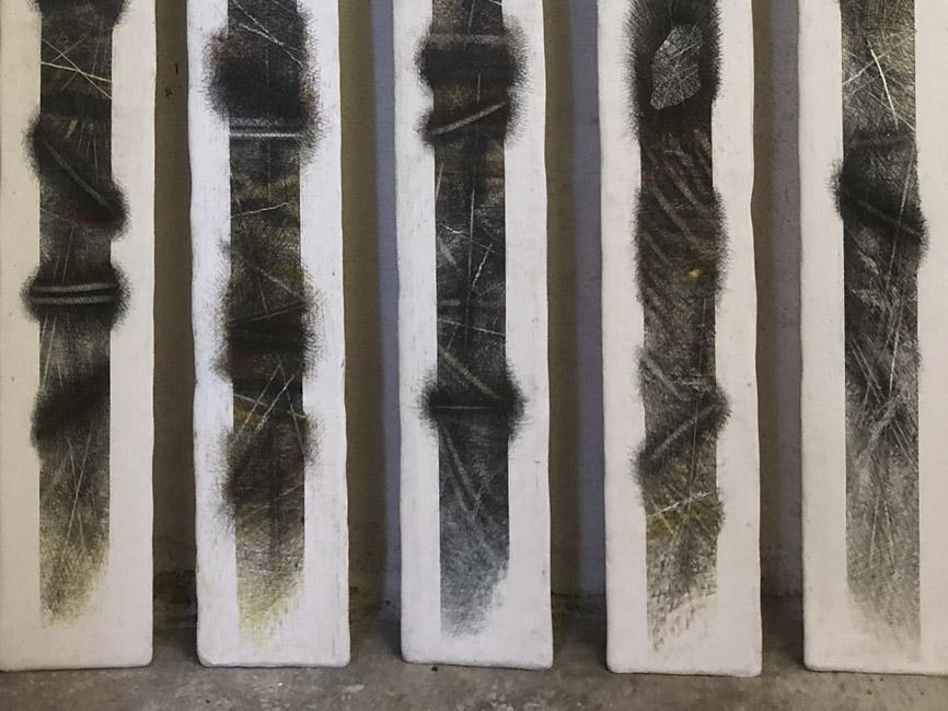 5 einzelne Stelen, 1981