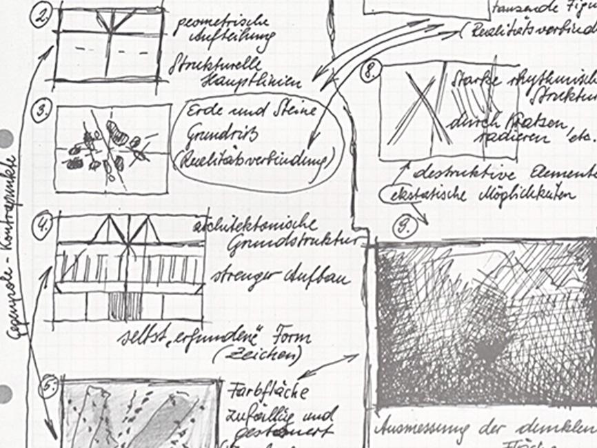 Arbeitskonzept für die Flugobjektbilder, 1980