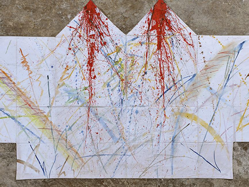 Drachenhemd mit blutroten Spitzen, 1981