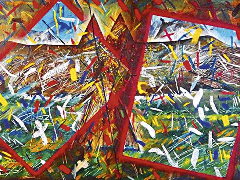 Flugtraum mit Adler, 1990
