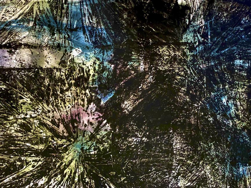 DENK ART Black Rays Crossing XIV 2020