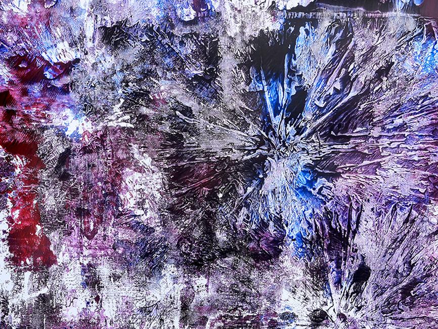 DENK ART Violet Lila Breakdowns No.1 2020