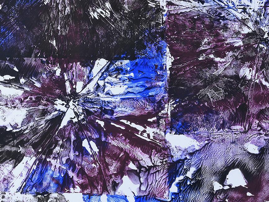 DENK ART Violet Lila Breakdowns No.2 2020