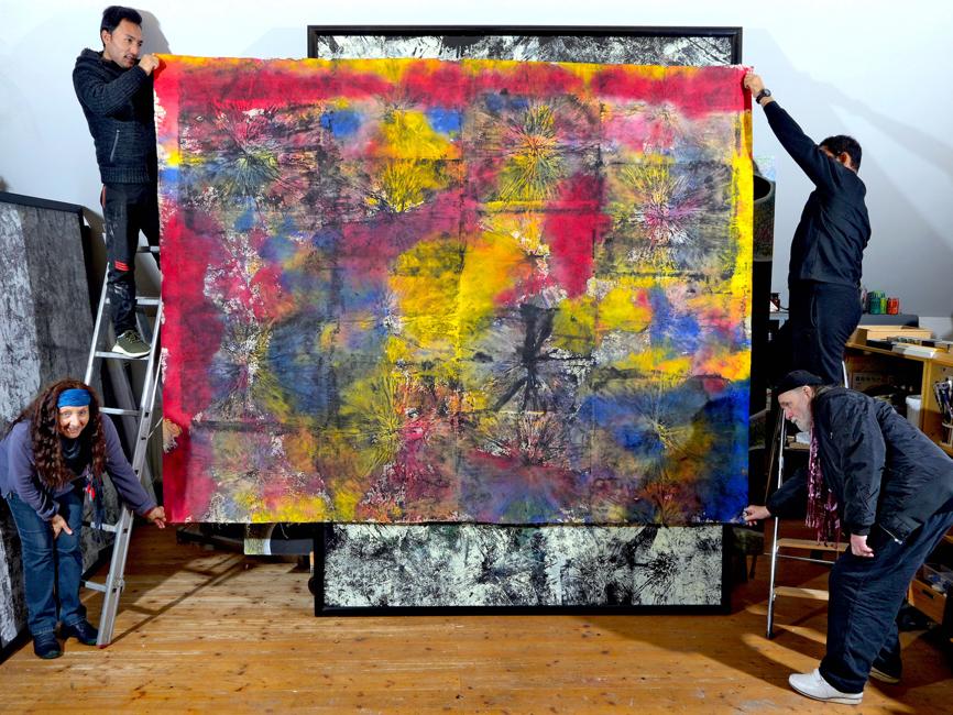 Martha & Wolfgang Denk im Atelier